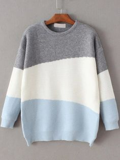 Shop Color Block Ribbed Drop Shoulder Sweater online. SheIn offers Color Block Ribbed Drop Shoulder Sweater & more to fit your fashionable needs.