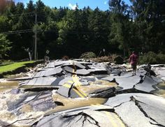 Hurricane Irene damage is seen on August 29, 2011 in Killington, Vt. (Sasha Parise/The Mountain Times)