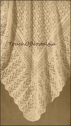 LACY Baby SHAWL Vintage Knitting Pattern by touchofnostalgia7, $3.95