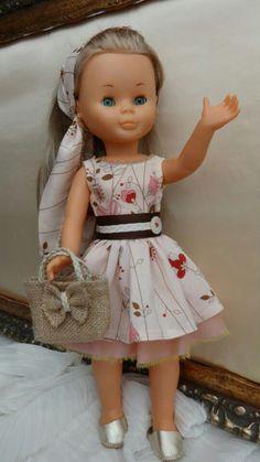 Nancy Sewing Doll Clothes, Sewing Dolls, Vestidos Nancy, Nancy Doll, Wellie Wishers Dolls, Little Doll, 18 Inch Doll, American Girl, American Dolls