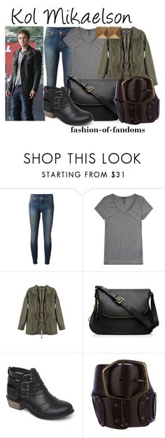 """""""Kol Mikaelson"""" by fofandoms ❤ liked on Polyvore featuring 7 For All Mankind, Scotch & Soda, Tom Ford, Black Poppy, Dolce&Gabbana and Eddie Borgo"""