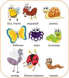 Insectos en Ruso