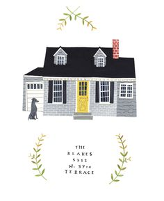 Love these house portraits, and this blog. Pretty pretty stuff.