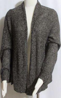 NEW Womens Ladies Plus EILEEN FISHER Brown Open Cardigan Sweater 1X Orig $268 #EileenFisher #OpenCardigan