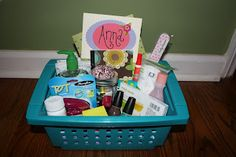 Great gift for girls going off to college. Dorm room survival kit!