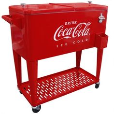 Manufacturer model:CP Get the party rolling with this Coca-cola rolling cooler. It includes silver handles & a heavy-duty coke logo bottle opener & cap catcher, a storage tray on the bottom, along with an attractive, old-school Coca-Cola logo. Retro Cooler, Coca Cola Cooler, Vintage Cooler, Fridge Cooler, Mini Fridge, Rolling Cooler, Always Coca Cola, World Of Coca Cola, Teacher Signs