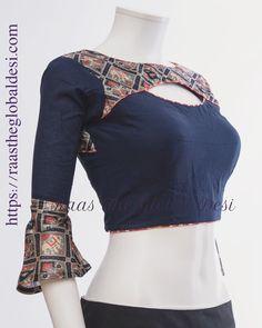 Fashion design inspiration dresses neckline Ideas for 2019 Saree Blouse Neck Designs, Fancy Blouse Designs, Dress Designs, Traditional Blouse Designs, Stylish Blouse Design, Designer Blouse Patterns, Global Desi, Lehenga Gown, Lehenga Blouse