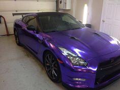 Purple Chrome on a nissan GTR By Edgewraps.com using vvivid supercast purple chrome