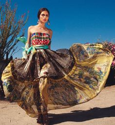 """Yana Sotnikova in """"Viva Mexico"""" Photographed by Tina Luther& Styled by Nino Cerone for Grazia Germany, April 2012"""