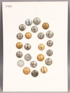 Antique 19c & Early 20c Group 23 US Fire Department Uniform Buttons Incl NYC | eBay