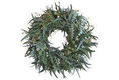 "22"" Eucalyptus w/ Juniper Wreath"