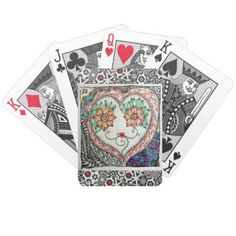 Heart Face Playing Cards - love gifts cyo personalize diy