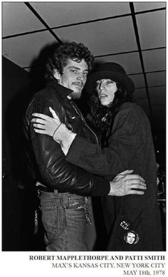 Robert & Patti. Artists and musicians were pulled into the orbit of the burgeoning punk scene. Robert Mapplethorpe, an accomplished photographer, was a scene regular and the subject of Patti Smith's acclaimed 2010 memoir, Just Kids. I love Patti, but I wish she'd shave more often (everywhere!).