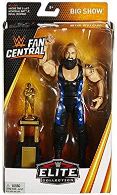 WWE Elite Fan Central Exclusive Big Show Action Figure with Andre the Giant Battle Royal Trophy Wwe Action Figures, Custom Action Figures, Wwf Toys, Figuras Wwe, Aj Styles Wwe, Best Wrestlers, Eddie Guerrero, Andre The Giant, Wwe Elite