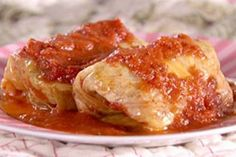 For an Eastern European classic, make Tyler Florence's Stuffed Cabbage Rolls (Galumpkis) from Food Network. They're filled with beef, pork and rice. Cabbage Rolls Recipe, Cabbage Recipes, Beef Recipes, Cooking Recipes, Healthy Recipes, Hamburger Recipes, Beef Meals, Entree Recipes, Healthy Options