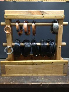 wire caddy loaded with wire!