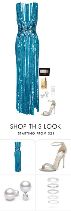"""""""Untitled #947"""" by h1234l on Polyvore featuring Elie Saab, René Caovilla, Belk Silverworks, Yves Saint Laurent and NYX"""