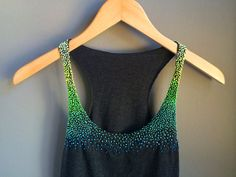 Ombre Neon Jungle French Knot Tank Top by Printosaurus on Etsy, $45.00