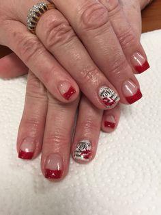 Red Valentine Love nails  www.awildhairsalonreno.com