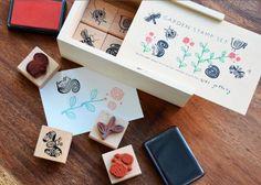 Lovely Garden Rubber Stamp Set. $23.95 #mightynest