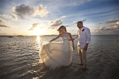 Kellie Pickler's wedding. She walked through the ocean in her wedding gown. I LOVE IT.