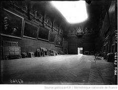 The Louvre during one of the WWII