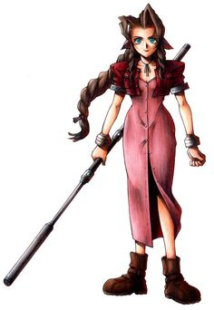 Week 7 - Final Fantasy VII - Concept Art Mon - Aeris
