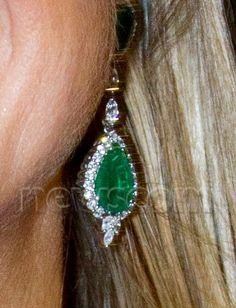 Maxima emerald and diamond earrings.