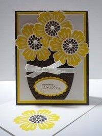 Peanuts and Peppers Papercrafting: Try It Thursday - Stampin' Up Mixed Bunch So Many Smiles Card
