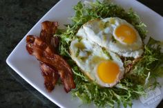 Lemon Basil Bacon Fat Vinaigrette (great over a frisee salad {or spinach} with sunny side up eggs and bacon)