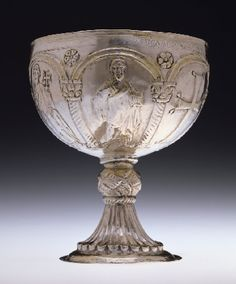 Chalice with Apostles Venerating cross, early 7th century
