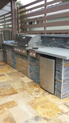 ideas for outdoor kitchen build yourself - 23 examples of self-built garden kitchens! - ▷ Build 1001 ideas for outdoor kitchen – 23 examples of home-made garden kitchens! Outdoor Kitchen Bars, Backyard Kitchen, Backyard Bbq, Kitchen On A Budget, Kitchen Ideas, Outdoor Kitchens, Rustic Kitchen Design, Outdoor Kitchen Design, Outdoor Island
