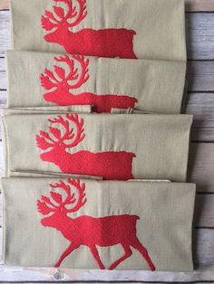 A herd of Christmas Elk! Fun Christmas gifts/stocking stuffers/teacher gifts/https://www.etsy.com/listing/557877550/christmas-kitchen-or-hand-towelholiday