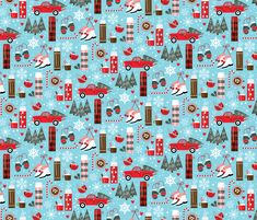 Baby It's Cold Outside fabric by designs_by_lisa_k on Spoonflower - custom fabric