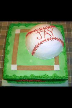 Baseball birthday cake.