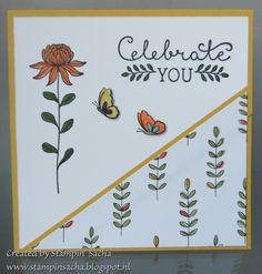 Stampin' Sacha - Stampin' Up! - Occasions Catalog 2016 - Sale-A-Bration - Flowering Fields - Wildflower Fields DSP - Suite Sayings - mini cards (Hello Honey)