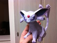 This is the first papercraft model I've made.  It is Espeon from the Pokemon game.  #papercraft
