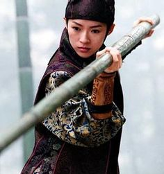 Zhang Ziyi, Butt kicking martial arts chick. From House of Flying Daggers