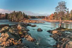 Koiteli waterfall in Finland. by Ari Niippa