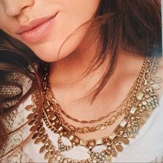Gold Sutton Necklace Versatile necklace that can be worn 5 ways Stella & Dot Jewelry Necklaces
