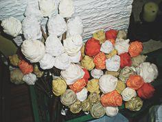 THRIFTARY: DIY Wedding Fabric Flowers