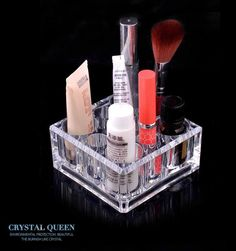 Cheap box type, Buy Quality box true directly from China box favor Suppliers: 	Hot sale jewelry box acrylic cosmetic box Creative gift 9 hole transparent lipstick receive a case Crystal cosmetics bo