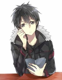 anime     boy     kirito     manga     sao     sword art online