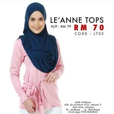 LEANNE tops available now! . . Code: LT03 (Light Pink) . Normal price : RM79 Promo price : RM70 . Material : valentro satin Size available : S  M  L . Nursing friendly Wudhu easy . Online order Whatsapp 6016.2604642  #LEANNEtops #LEANNEmeasurement #andheqashahalam