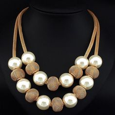Cheap fashion statement necklace, Buy Quality statement necklace directly from China pearl necklace Suppliers: Danfosi 3 Colors Fashion Imitation Pearl Necklace Women Collar Choker Beads Statement Necklaces & Pendants Jewelry Accessories Cheap Choker Necklace, Pearl Statement Necklace, Cheap Necklaces, Necklace Types, Statement Jewelry, Beaded Necklace, Colar Fashion, Fashion Necklace, Statement Necklaces
