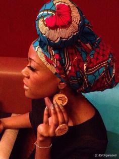 Head Wrap ~African fashion, Ankara, kitenge, African women dresses, African prints, African men's fashion, Nigerian style, Ghanaian fashion ~DKK