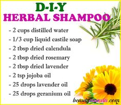 Make your own DIY herbal shampoo that lathers for a healthy scalp & hair! Herbal shampoos use herbal extracts and infusi Diy Shampoo, Homemade Shampoo, Natural Beauty Tips, Natural Hair Care, Healthy Scalp, Healthy Hair, Hair Care Recipes, Diy Hair Care, How To Dry Rosemary