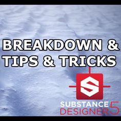 Windswept Snow Breakdown & Tips - Substance Designer 5, Tristan Meere on ArtStation at https://www.artstation.com/artwork/yRav9