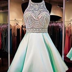 Mint Green Homecoming Dress..