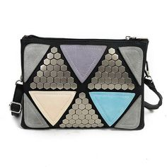 Sequined Patchwork Bag 2016 luxury bag Designer handbag women famous brand Rivet Envelope Bag ladies Messenger Bag sac a main
